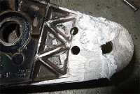 Пайка алюминия припоем. Охлаждение изделия